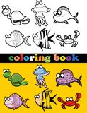Coloring book of animals,vector Stock Photo