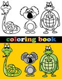 Coloring book of animals,vector Stock Photography