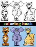 Coloring book of animals,vector Royalty Free Stock Images