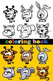 Coloring book of animals,vector. Coloring book of animals, vector illustration picture Royalty Free Stock Image