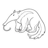 Coloring book (anteater) Stock Image