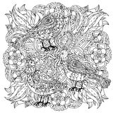 Coloring book antistress style picture Royalty Free Stock Photo