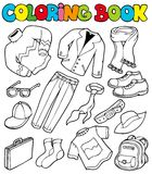 Coloring book with apparel 1 Stock Photos
