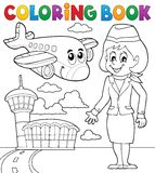 Coloring book aviation theme 2 Royalty Free Stock Photo