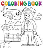 Coloring book aviation theme 1 Royalty Free Stock Photos
