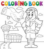 Coloring book aviation theme 3 Royalty Free Stock Photos