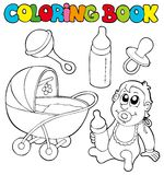 Coloring book baby collection Royalty Free Stock Photography