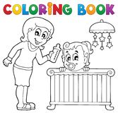 Coloring book baby theme image 1 Stock Images