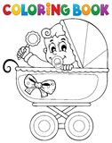 Coloring book baby theme image 5. Eps10 vector illustration Royalty Free Stock Images