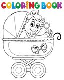 Coloring book baby theme image 4. Eps10 vector illustration Stock Photography