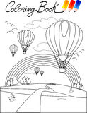 Coloring book, balloon Stock Image