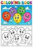 Coloring book balloons theme 1 Stock Photography