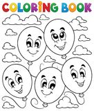 Coloring book balloons theme 2 Royalty Free Stock Photo