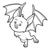 Coloring book, Bat. Coloring book for children, Bat Royalty Free Stock Photography