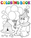 Coloring book bear with balloons Royalty Free Stock Photos