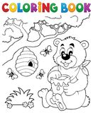 Coloring book bear theme 1 Stock Images