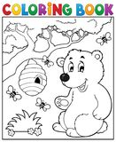 Coloring book bear theme 2 Royalty Free Stock Image