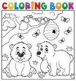 Coloring book bear theme 4 Royalty Free Stock Photos