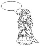 Coloring book of Beauty fairy queen or princess Stock Photo