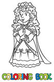 Coloring book of Beauty fairy queen or princess Royalty Free Stock Photo