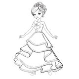 Coloring Book Of Beauty Princess Royalty Free Stock Photos
