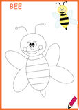 Coloring book bee stock images