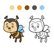 Coloring book (bee) Royalty Free Stock Photography