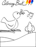 Coloring book, bird Royalty Free Stock Image