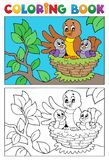Coloring book bird image 5 Stock Photography