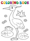 Coloring book bird topic 4 vector illustration