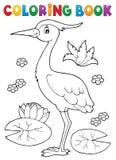 Coloring book bird topic 4 vector illustration