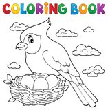 Coloring book bird topic 3 royalty free illustration