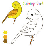Coloring book bird yellowhammer Royalty Free Stock Photo