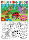 Coloring book bugs theme image 5. Vector illustration Royalty Free Stock Images