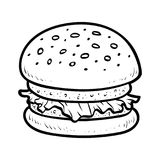 Coloring book, Burger stock illustration