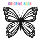Coloring book with butterflies. On white background Stock Images