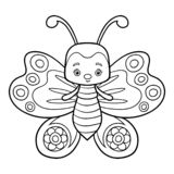 Coloring Book, Butterfly Stock Images