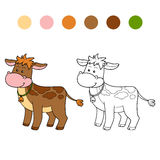 Coloring book (calf) Royalty Free Stock Images