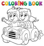 Coloring book car theme 1 Royalty Free Stock Photos