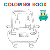 Coloring book: car, to teach kids at home or in kindergarten. Vector Stock Images