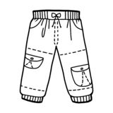 Coloring book, Cargo trousers royalty free stock photos