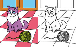 Coloring book cat Stock Image