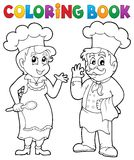 Coloring book chef theme 2. Eps10 vector illustration Royalty Free Stock Photography