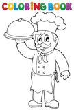 Coloring book chef theme 1 Royalty Free Stock Images