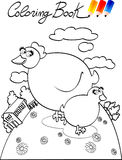 Coloring book, chick Stock Images