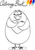 Coloring book, chick in love Royalty Free Stock Photo
