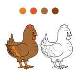 Coloring book (chicken) Stock Photos