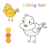 Coloring book chicken kids layout for game Stock Photos