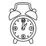 Coloring book, Alarm clock. Coloring book for children, Alarm clock vector illustration