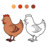 Coloring book for children (chicken) Royalty Free Stock Photo